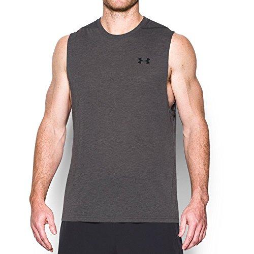 Under Armour Men's Threadborne Siro Muscle Tank, Carbon Heather/Black, Large
