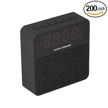 Amazon.com: Reloj Altavoz Mini T1 Tela Despertador Tarjeta ...