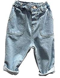 Kidscool Space Little Child Big Pockets Both Side Elastic Fashion Jeans