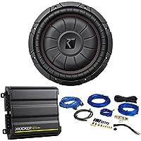 Kicker 43CVT102 COMPVT 10 800 Watt Car Subwoofer+Mono Kicker Amplifier+Amp Kit