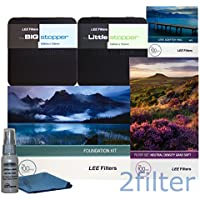 Lee Filters Landscape Pro Kit includes Lee Foundation Kit, 77mm Wide Angle Ring, Lee 4x6 Grad ND Soft Edge Set, 4x4 Big Stopper and 4x4 Little Stopper with 2filter cleaning kit