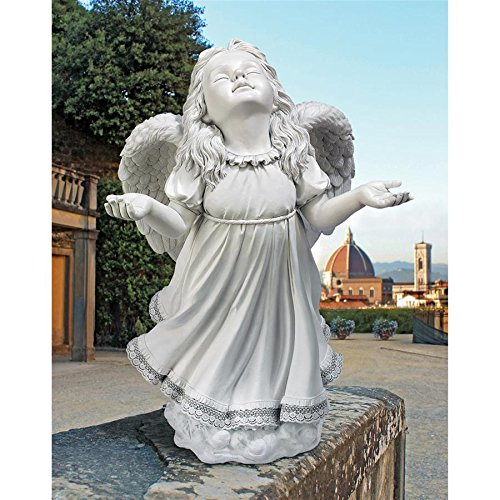Angel Figurines - In God's Grace Guardian Angel Statue - Garden Angel Figure (Gargoyle Lawn Ornaments)