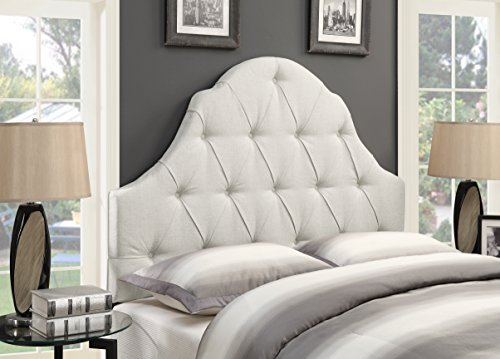 Pulaski DS-D015-250-432 Camel Back Upholstered Headboard, Full/Queen, Linen
