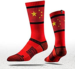Best Discount Collection China Flag Crew Socks