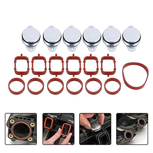 Price comparison product image 6x 33mm Diesel Swirl Flap Blanks Bungs Intake Gaskets Repair Replacement Kit for BMW 320d 330d 520d 525d 530d 730d with Intake Manifold Gaskets