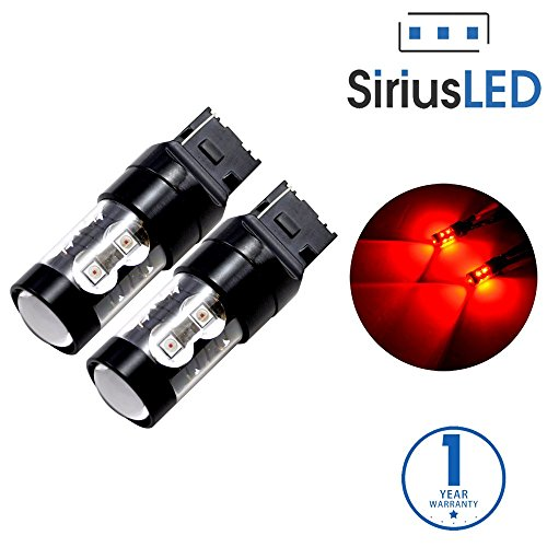 2015 Acura Mdx Shock - SiriusLED Extremely Bright 50W 7440 7441 992 T20 LED Bulbs with Projector for Turn Signals Reverse Backup Brake Tail Lights Red