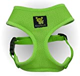 Maximum Comfort Dog Harness 10-17 lbs; Innovative No Pull & No Choke Design, Soft Double Padded Vest for Premium Control, Eco-Friendly Emergency Quick Release For Puppies and Dogs (Medium, Green)