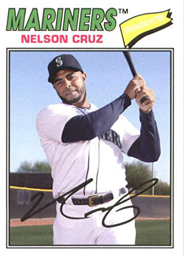 2018 Topps Archives #135 Nelson Cruz Seattle Mariners Baseball Card