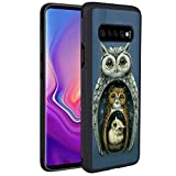 Owl Families Phone Case for Samsung Galaxy S10+, Slim Soft TPU and Hard PC Tire Shockproof Protective Phone Cover Case for Samsung Galaxy S10+
