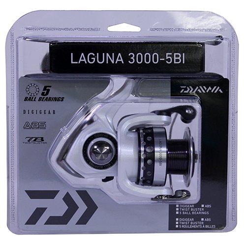 Daiwa Laguna-5Bi LAG500-5Bi 2-6Lbs Test Spinning Reel, Silver