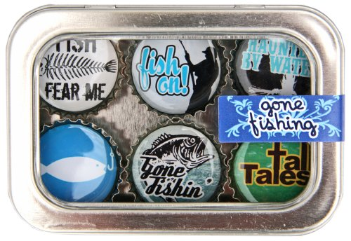 Kate Grenier Designs Fishing Bottle Cap Magnets