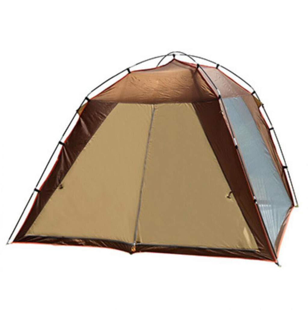 JBHURF Familienzelt-automatische Pop Up Zelte wasserdicht für Outdoor-Sportarten Camping Wandern Reise Strand (Farbe : Kaffee)