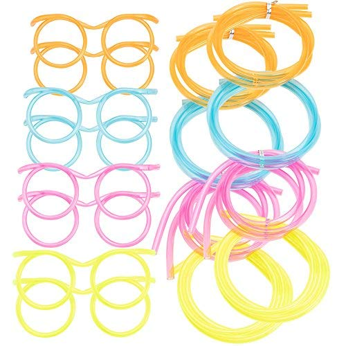 8Pack Eye Glasses Drinking Straws, Funny Party Supplies Straw Glasses Tube Sets for Kids Adults Birthday, Anniversary, Wedding, Bar Party Favors ()