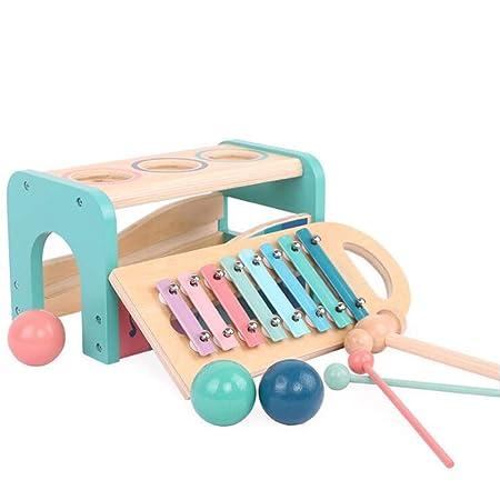 Holzspielzeug Kinder Musik-Set 6-teilig Musikspielzeug Rhythmusspielzeug Musik