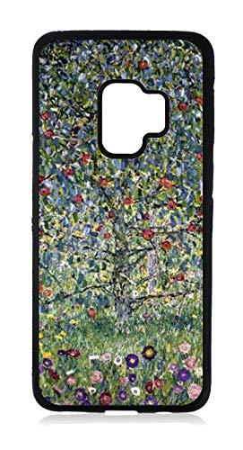 Artist Gustav Klimt's Apple Tree Painting Print Design Black Rubber Case for The Samsung Galaxy s9 - Samsung Galaxy s9 Accessories
