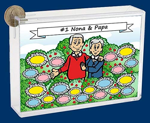 Personalized NTT Cartoon Side Slide Frame Gift: Grandparents Garden Gift, Grandparents, Grandparents Day, Elderly Couple, Aunt, Uncle, Story time