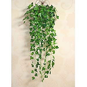 FYYDNZA Popular Home Decor Green Plant Ivy Leaf Artificial Flower Plastic Garland Artificial Vine Flowers Wall Decor 115