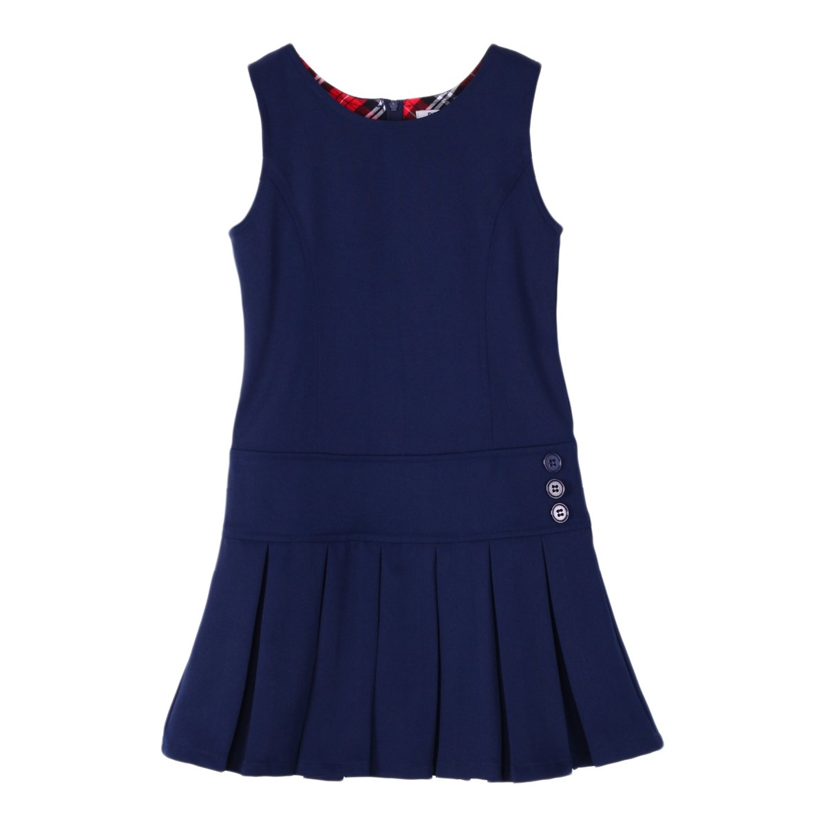 Bienzoe Girl's Stretchy Pleated Hem School Uniforms Jumper Navy 8