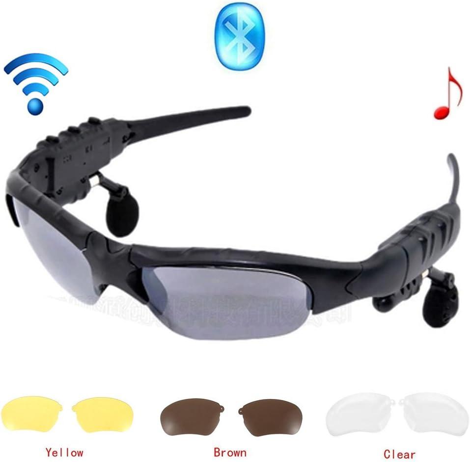 Wireless Bluetooth Gafas de sol auriculares estéreo digital Gafas con música MP3 Reproductor de auriculares con función de cámara para Smartphones