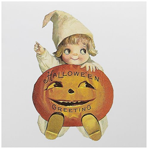 3dRose An Adorable Vintage Halloween Child, Greeting Cards, Set of 6 (gc_164153_1)