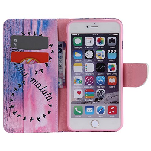 """iPhone 6 / iPhone 6S (4.7"""") Coque , Apple iPhone 6 / iPhone 6S (4.7-inch) Coque Lifetrut® [ rêve étoile ] Luxe Premium Portefeuille Flip mignon Coque TPU souple Folio en cuir PU intégré dans la carte"""