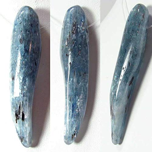 90cts Blue Kyanite W/Tourmaline Pendant Bead for Jewelry Making 10418x
