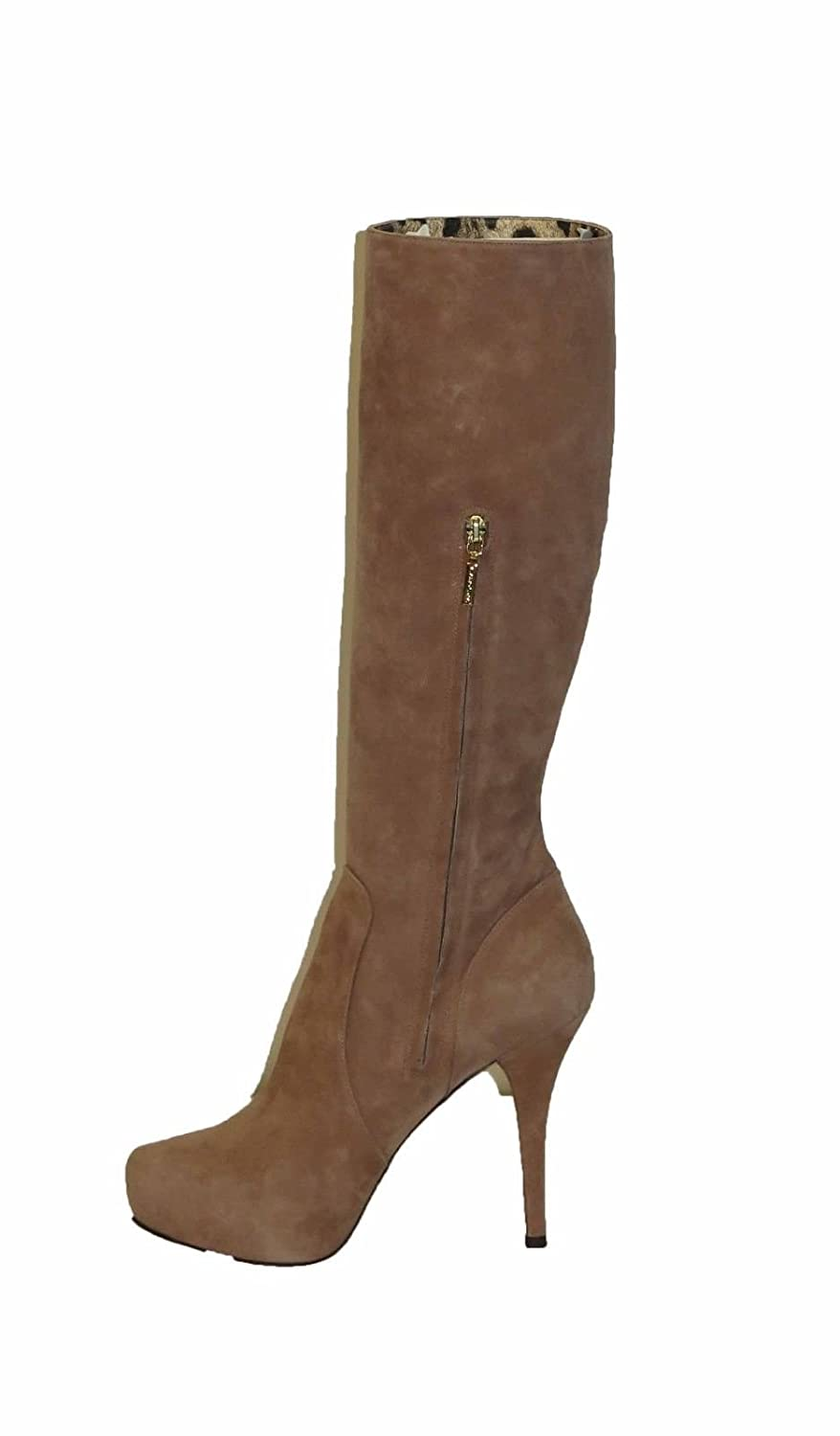 DOLCE & GABBANA Brown Suede Tall Boots Size 9
