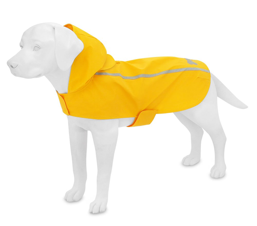 Best Pet Supplies - Voyager Waterproof Dogs Rain Poncho, Yellow, Medium by Best Pet Supplies, Inc. (Image #3)