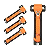 Life Hammer Original Emergency Hammer, Orange, 4-Pack