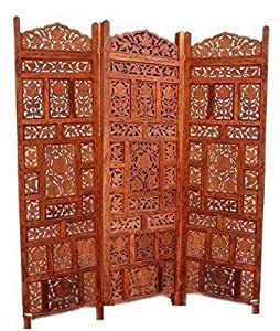 Shilpi Wooden Partition / Wooden Room Divider/ Wooden Screen / Wooden  Seperator