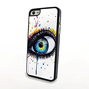 Generic White Pure Style Big Eyes Phone Cases for iPhone 5/5S Cases Cover Matte Plastic Shell Skin Hard Slim Can Customize for Other Phones