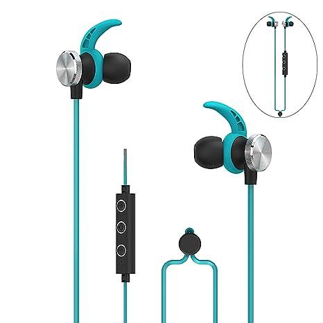 Auriculares inalámbricos Bluetooth con cancelación de ruido en los oídos con micrófono y control de volumen