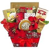 Season's Greetings Christmas Holiday Gourmet Food Gift Basket