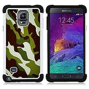 - Camo Camouflage Chamo Jungle Pattern - - Doble capa caja de la armadura Defender FOR Samsung Galaxy Note 4 SM-N910 N910 RetroCandy