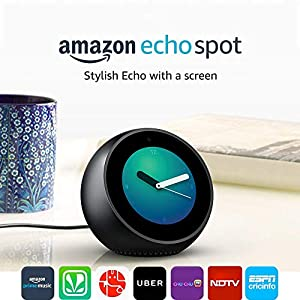 Echo Spot – Smart Alarm Clock with Alexa – Black