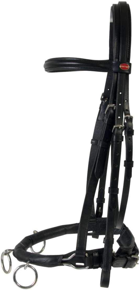 Amesbichler Cheval - Árbol de equitación de piel, color negro
