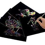 Scratch Art Rainbow,Scratch Paper Notepad 30 Big 11
