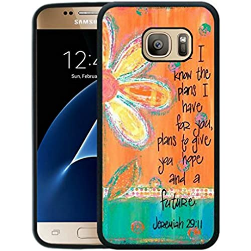 S7 Case,Galaxy S7 Case, Bible Verse ,Vintage floral. For I know the plans I have for you. Plans to give you hope Sales