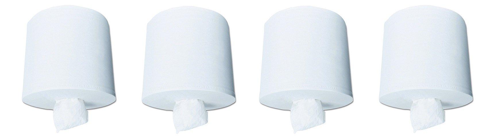 Scott Center Pull Paper Towels (01010), White, Perforated Hand Paper Towels, 500 Towels / Roll, 4 Rolls / Case (4-(4 Rolls / Case))