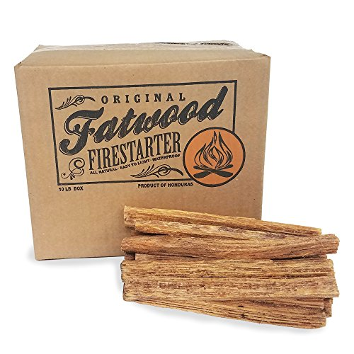 2400 Earth Worth | 10 Pound Box - Fatwood Firestarter (Fire Kindling Starter)