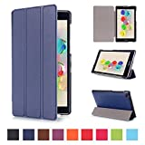 Tsmine Asus Zenpad C 7.0 Case - Lightweight Premium Slim Tri-fold PU Leather Case Stand Cover for Asus ZenPad C 7.0 Z170C / Z170CG / Z170MG Tablet (Auto Sleep / Wake up Features), Navy