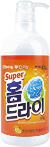 [WELLZONKOREA] Home Dry Cleaner, Orange Oil Addition, Excellent Cleaning&Economical Laundry Detergent Liquid Type (950g(Pump Type))