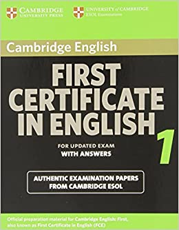 Amazon cambridge first certificate in english 1 for updated exam amazon cambridge first certificate in english 1 for updated exam students book with answers official examination papers from university of cambridge yelopaper Image collections