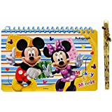 Disney Mickey Mouse and Friends Spiral Autograph Book - Red
