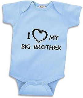 8257b8b8d Amazon.com: My Big Brother is My Hero Cute Baby Onesie, Bodysuit, T ...