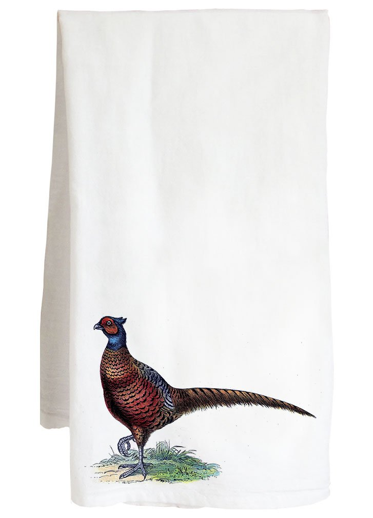 Live Nice PHEASANT VINTAGE ANIMAL - wild game bird - Farm Flour Sack Kitchen Tea Towel