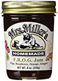 Mrs. Miller's Amish Homemade F.R.O.G. Jam (Figs, Raspberry, Orange & Ginger) 8 oz/226g - Pack of 2 (Boxed)