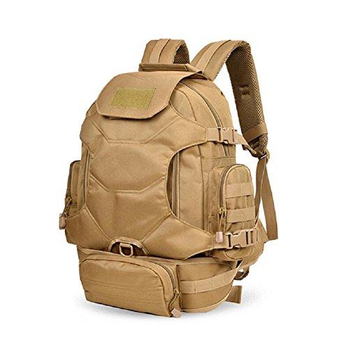 ZC&J Mochila de camuflaje universal de hombres y mujeres, mochila deportiva de 30 litros de capacidad, multiusos, senderismo, mochila de montar,C,30L A