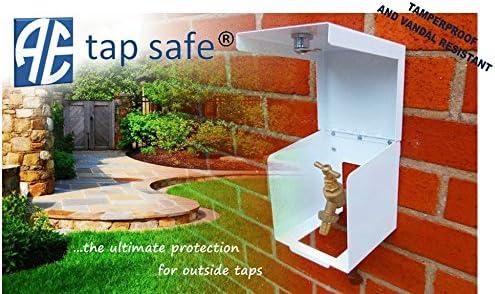 Grifo – Caja de seguridad con cerradura caja de protección de seguridad, para grifos de exterior/Jardín (color blanco): Amazon.es: Jardín