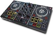 Numark Party Mix | Beginners DJ Controller Set for Serato DJ with 2 Decks, Party Lights, Headphone Output, Per